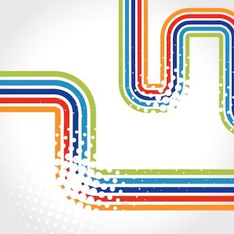 Vetor de linhas coloridas de fundo com espaço para o seu texto