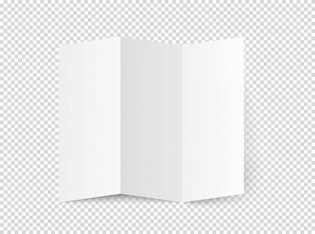 Vetor de livreto em branco branco
