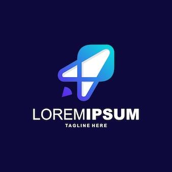 Vetor de logotipo abstrato foguete