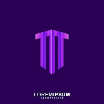 Vetor de logotipo abstrato letra m