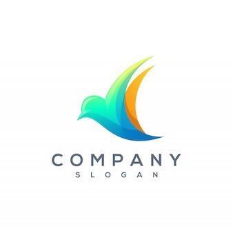 Vetor de logotipo colorido pássaro