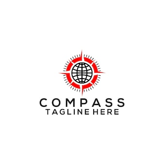 Vetor de logotipo da bússola. modelo de logotipo compass