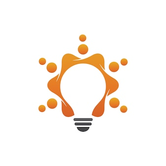 Vetor de logotipo da lâmpada