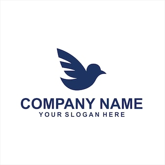 Vetor de logotipo de animais de pássaros