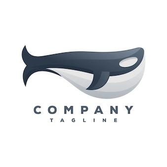 Vetor de logotipo de baleia