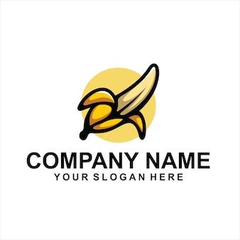 Vetor de logotipo de banana fruta