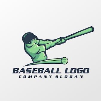 Vetor de logotipo de beisebol, modelo, ilustração