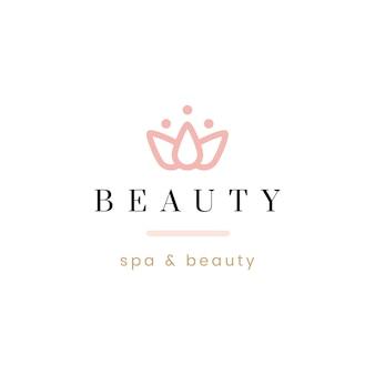 Vetor de logotipo de beleza e spa