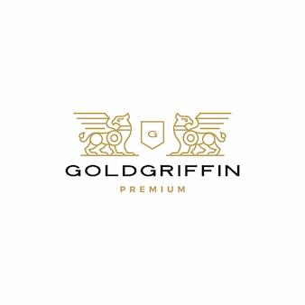 Vetor de logotipo de brasão de armas griffin