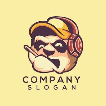 Vetor de logotipo de cabeça de cão
