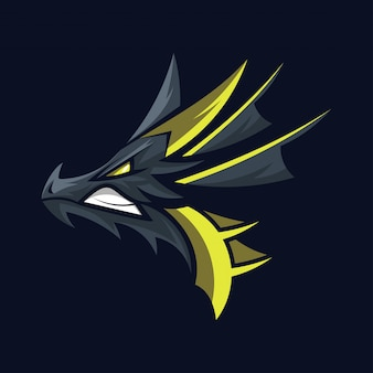 Vetor de logotipo de cabeça de dragão