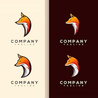 Vetor de logotipo de cabeça de raposa