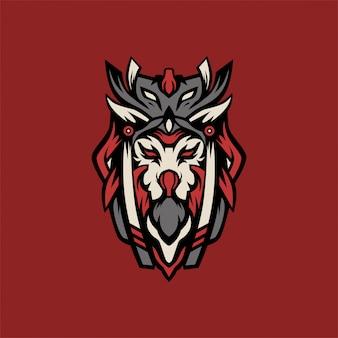 Vetor de logotipo de caçador de leão