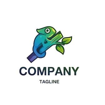 Vetor de logotipo de camaleão