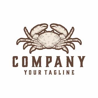 Vetor de logotipo de caranguejo