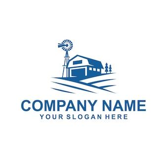 Vetor de logotipo de casa de fazenda