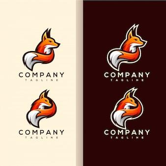 Vetor de logotipo de cauda de raposa
