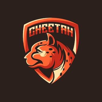 Vetor de logotipo de chita, animal, ilustração