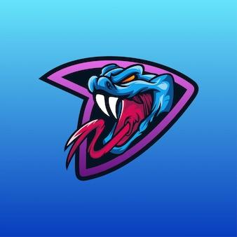 Vetor de logotipo de cobra