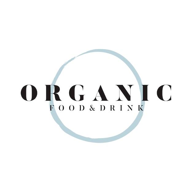 Vetor de logotipo de comida e bebida orgânica