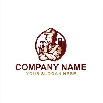 Vetor de logotipo de construção