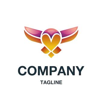 Vetor de logotipo de coruja