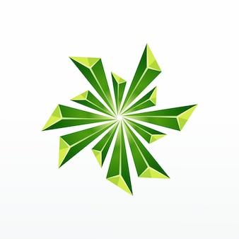 Vetor de logotipo de cristal