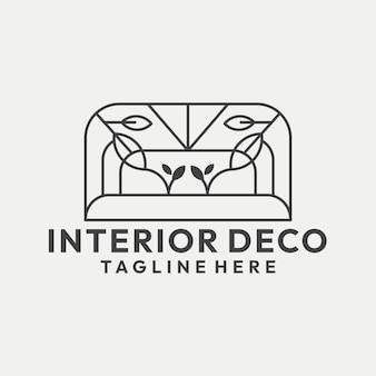Vetor de logotipo de decoração de casa de arte moderna