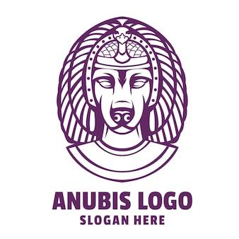 Vetor de logotipo de desenho animado de cachorro anubis