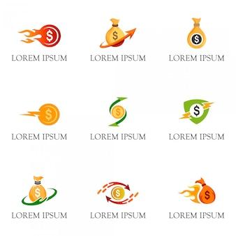 Vetor de logotipo de dinheiro para negócios e financeiro