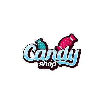 Vetor de logotipo de doces.