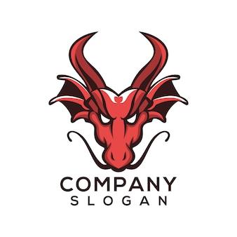 Vetor de logotipo de dragão