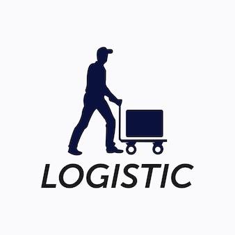 Vetor de logotipo de entrega logística