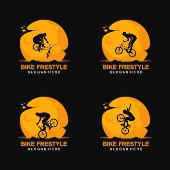 Vetor de logotipo de estilo livre de bicicleta