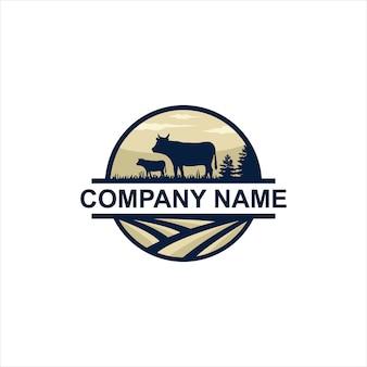 Vetor de logotipo de fazendas