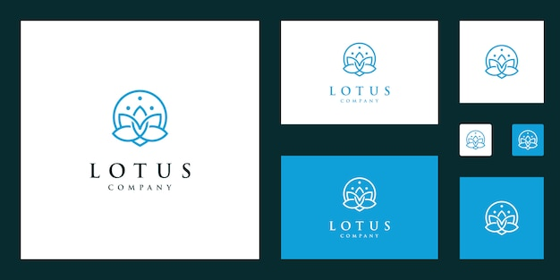 Vetor de logotipo de flor de lótus