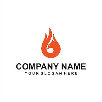 Vetor de logotipo de fogo de águia