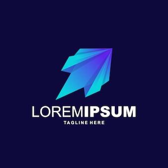 Vetor de logotipo de foguete digital