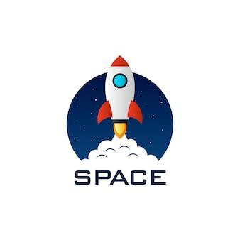 Vetor de logotipo de foguete