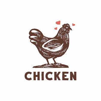 Vetor de logotipo de frango