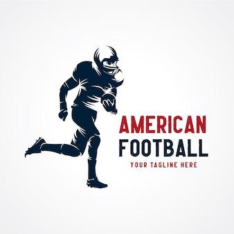 Vetor de logotipo de futebol americano vetor premium