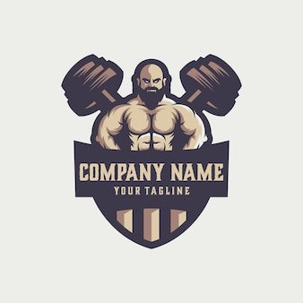 Vetor de logotipo de ginásio