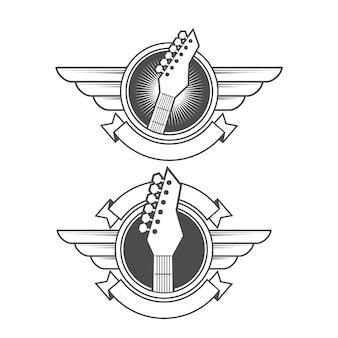 Vetor de logotipo de guitarra