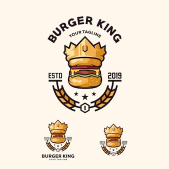 Vetor de logotipo de hambúrguer
