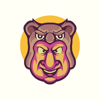Vetor de logotipo de homem coala