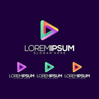 Vetor de logotipo de ícone de jogo abstrato