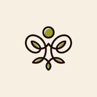 Vetor de logotipo de ioga