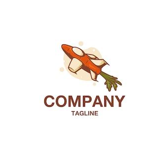 Vetor de logotipo de jato de cenoura