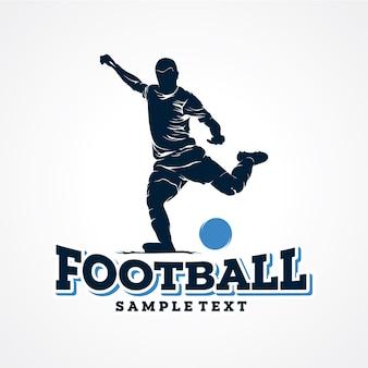Vetor de logotipo de jogador de futebol premium vector