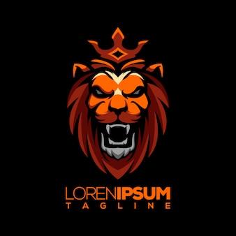 Vetor de logotipo de leão